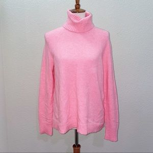 NWT J. Crew Hot Pink Wool Sweater Size Small